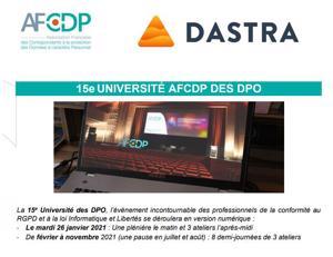 Nous soutenons l'université de l'AFCDP